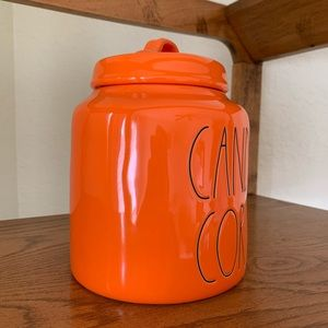 Rae Dunn Other - **SOLD** Rae Dunn Orange Candy Corn Canister